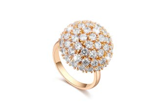 Half Moon Gold Spinning Ring