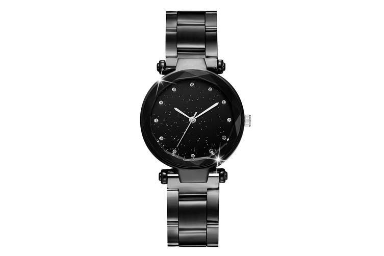 Bullion Gold Zaru Sparkly Watch-Black and Silver
