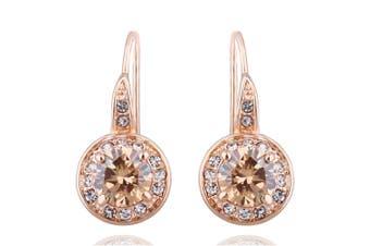 Halo Hook Back Earrings Embellished with Swarovski crystals