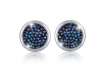 Glitzy Stud Earrings Bermuda Blue Embellished with Swarovski crystals