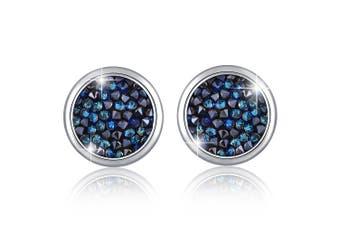 Glitzy Stud Earrings Bermuda Blue Embellished with Swarovski crystals