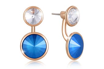 Precious Duo Drop Earrings Embellished with Swarovski crystals