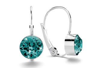 Audrey Lever Back Earrings Embellished with Swarovski crystals
