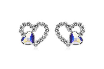 Fancy Heart Earrings Embellished with Swarovski crystals