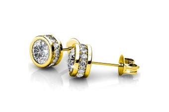 Star Acamar Stud Earrings Embellished with Swarovski crystals