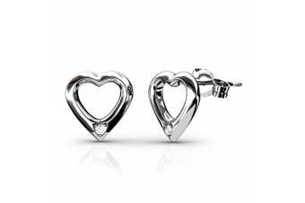Love Struck Stud Earrings Embellished with Swarovski crystals