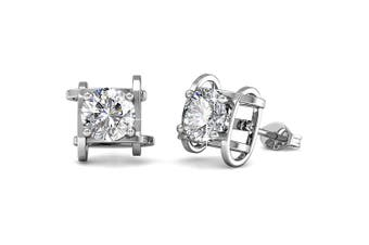 Majestic Beauty Stud Earrings Embellished with Swarovski crystals
