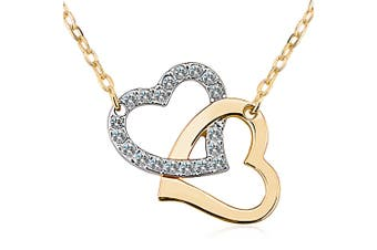 Two Hearts Forever Embellished with Swarovski crystals