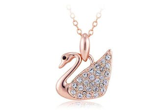 Krystal Swan Necklace Embellished with Swarovski crystals