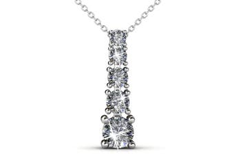 Crystal Tower Brilliance Necklace Embellished with Swarovski crystals