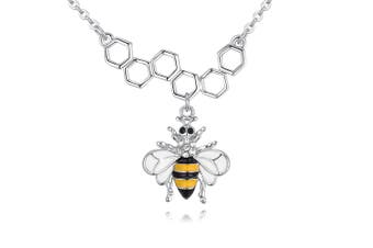 Honeycomb Bee Crystal Necklace