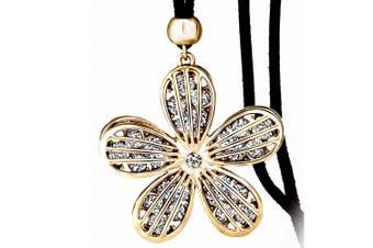 Spring Bloom Flower Necklace Clear Embellished with Swarovski crystals