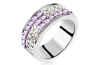 Kashmir Ring Violet Embellished with Swarovski crystals  Size US 7