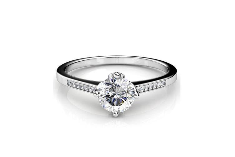 Covenant Ring Embellished with Swarovski crystals Size US 9