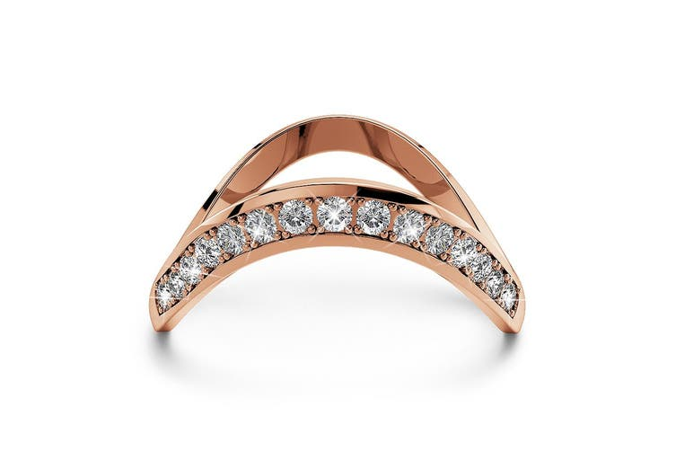 Contortion Ring Embellished with Swarovski crystals Size US 7