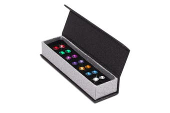 7 Pairs Mult Color Apex Studs Set Embellished with Swarovski crystals