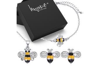 Bumblebee Crystal Jewellery Set