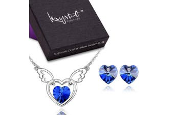 In The Arms Of The Angel Set Colbalt Blue Embellished with Swarovski crystals