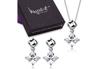 Sublime Square Set Embellished with Swarovski crystals