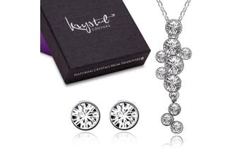 Journey Necklace and Earrings Set Embellished with Swarovski crystals