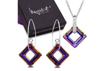 Mystical Cubic Set Embellished with Swarovski crystals