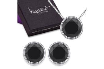 Starlight Black Set Embellished with Swarovski crystals