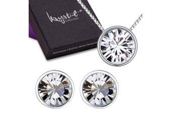 Starlight Clear Set Embellished with Swarovski crystals