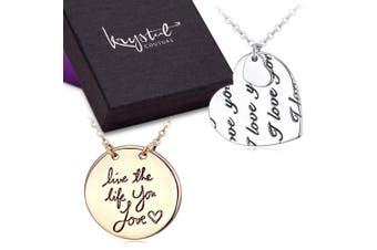 Inscription Necklace Set