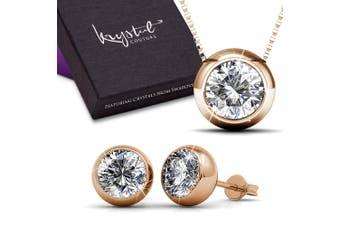 Boxed Opulence Necklace And Earrings Set Embellished with Swarovski crystals