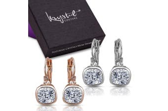 Cleo Earrings Boxed Set Embellished with Swarovski crystals