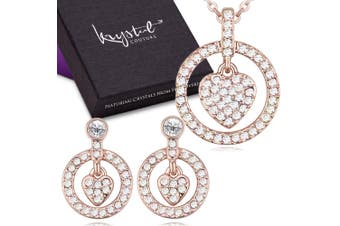 Saturn Heart With Crystal Set Embellished with Swarovski crystals