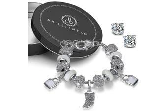 Pandora Inspired Full Set Beaded Charm Bracelet