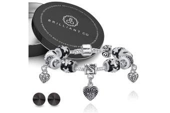 Boxed Pandora Inspired Full Set Beaded Charm Bracelet