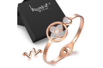 2pc Rose Gold Layered Jewellery Gift Set