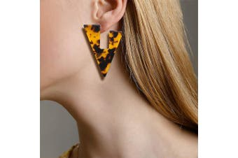 Obsession Classic Leopard Print Statement Earrings