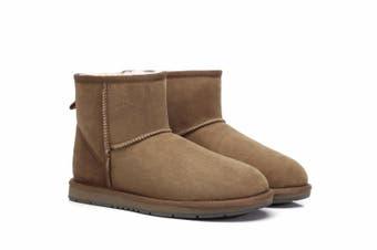 UGG Boots Australian Shepherd Unisex Mini Classic #15701 (Chestnut, 7L / 5M)