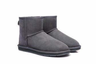 UGG Boots Australian Shepherd Unisex Mini Classic #15701 (Grey, 7L / 5M)