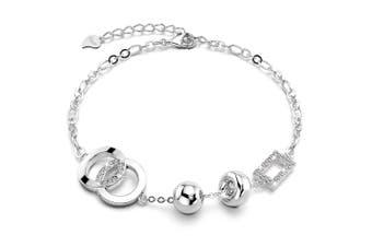 .925 Designer Link Bracelet-Silver