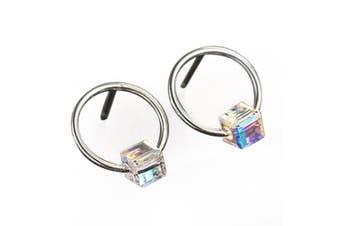 .925 Beauty Drop Earrings-Silver/Clear