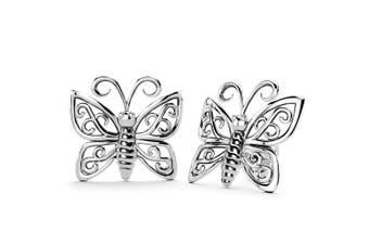 .925 Butterfly Stud Earrings-Silver