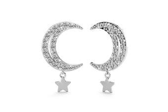 .925 Starmoon Stud Earrings