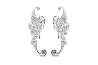 .925 Butterfly Climber Earrings