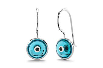 .925 Saucers Earrings Blue