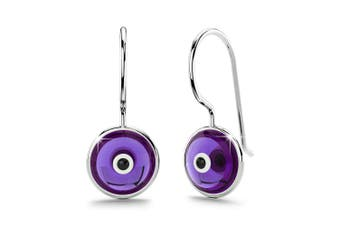 .925 Saucer Earrings Purple