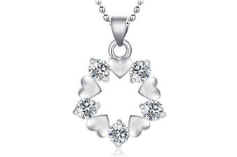 .925 Tales Entwined Pendant Necklace-Silver/Clear