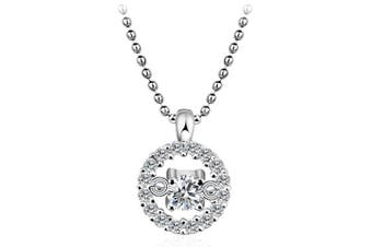 .925 Malificent Necklace-Silver/Clear