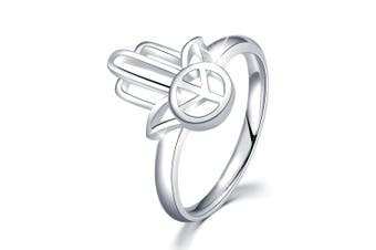 .925 Hand Of Peace Ring-Silver
