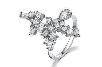 .925 Wild Fantasy Ring-Silver/Clear