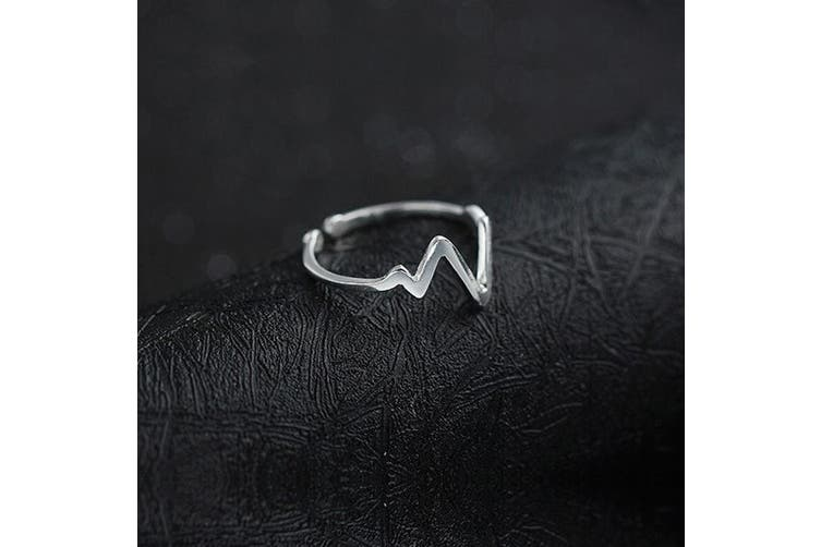 .925 Zigzag Affair Ring-Silver Adjustable Size