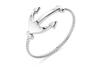 .925 Anchor Fashion Ring-Silver